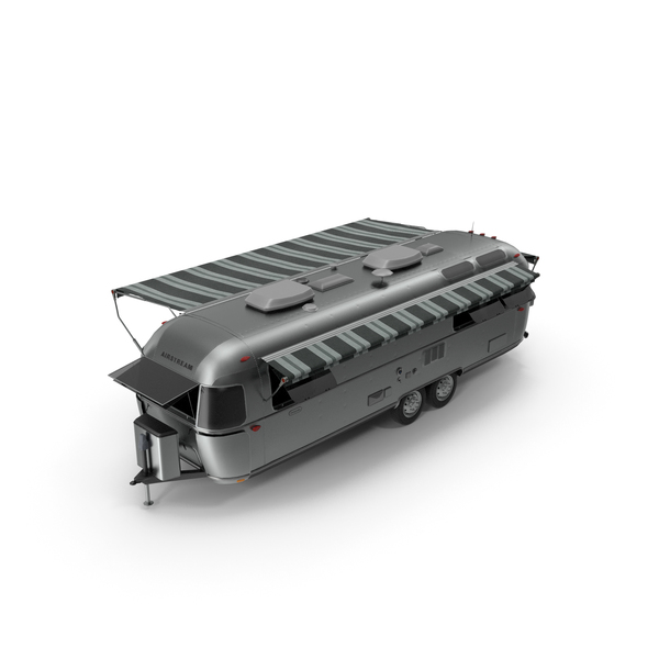 Portable Building: Travel Trailer Opened PNG & PSD Images