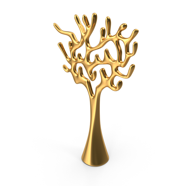 Tree Sculpture Gold PNG & PSD Images