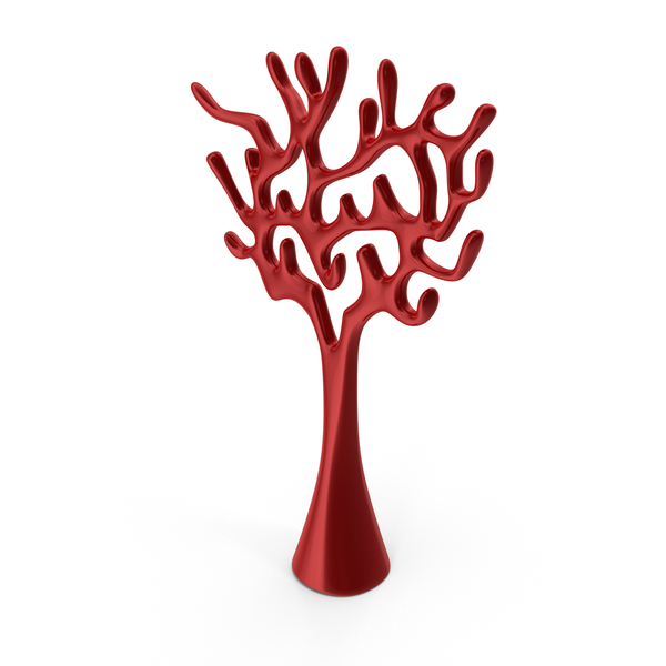 Tree Sculpture Red PNG & PSD Images