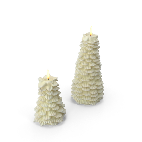 Tree Shaped Candles PNG & PSD Images