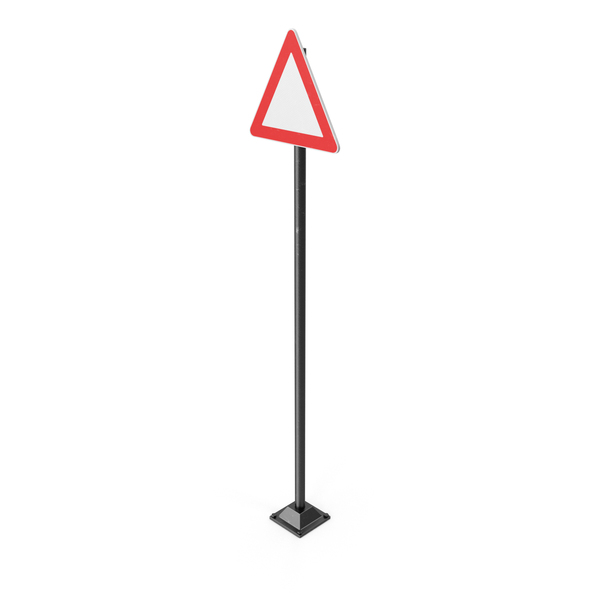 Triangle Road Sign Object