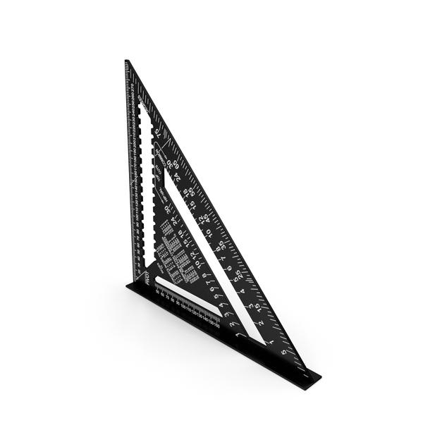 Set: Triangle Square Ruler Black PNG & PSD Images