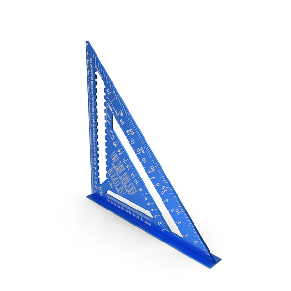 Set: Triangle Square Ruler Blue New PNG & PSD Images