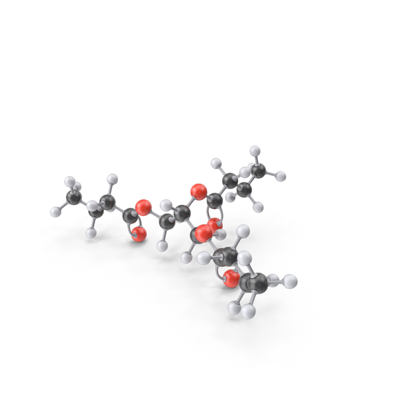 Tributyrin Molecule PNG & PSD Images