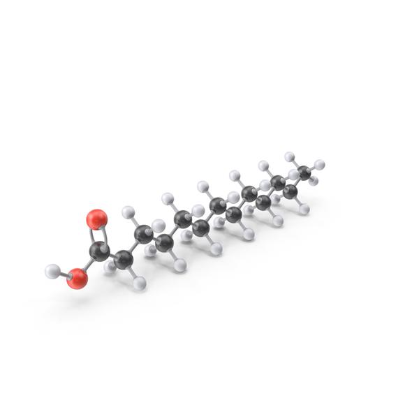 Tridecylic Acid Molecule PNG & PSD Images
