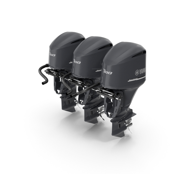 Triple Yamaha 350 V8 Outboard Motors PNG & PSD Images