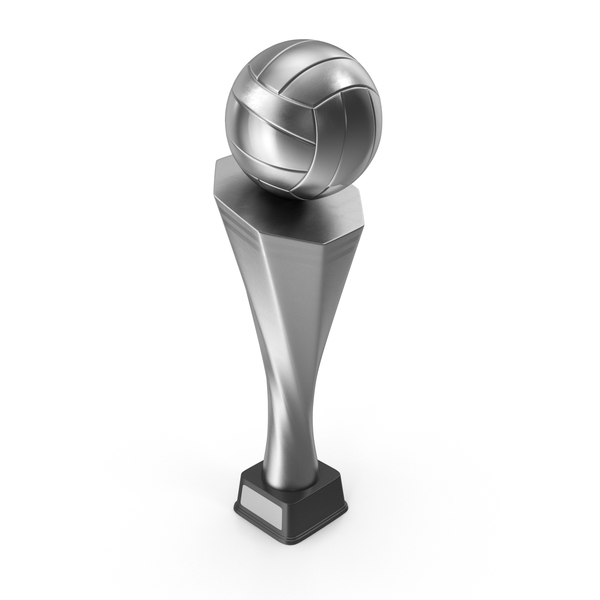 Trophy Cup Volleyball Silver PNG & PSD Images
