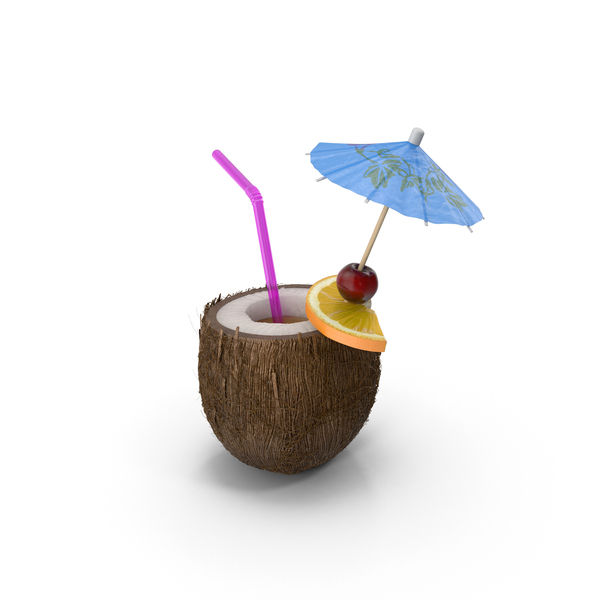 Cocktail: Tropical Drink PNG & PSD Images