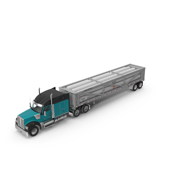Tank: Truck Kenworth W990 with LNG Trailer PNG & PSD Images