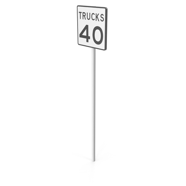 Trucks Speed Limit Sign PNG & PSD Images