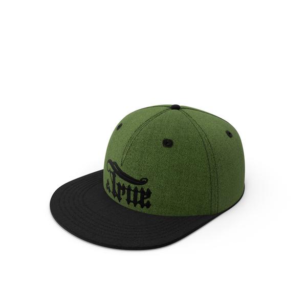 Baseball Cap: True Snapback Green PNG & PSD Images