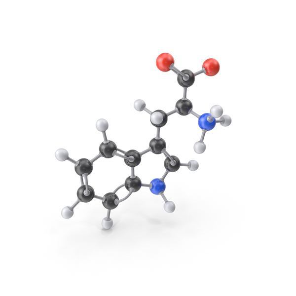 Tryptophan Zwitterion Molecule PNG & PSD Images