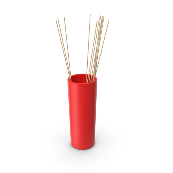 Tube Vase Red PNG & PSD Images
