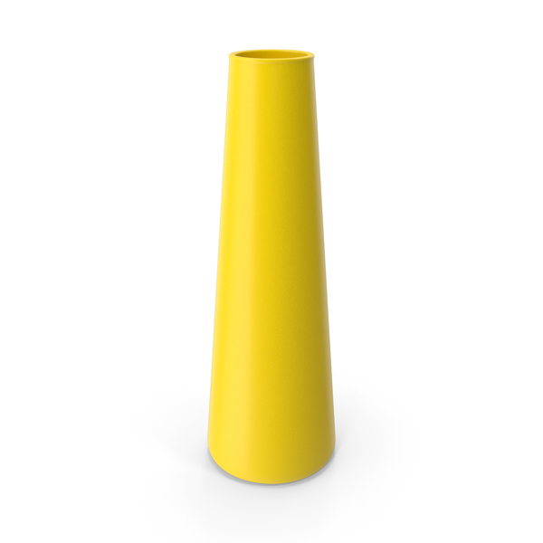 Tube Vase Yellow PNG & PSD Images