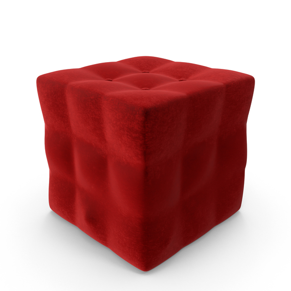 Tufted Box Pouf PNG & PSD Images