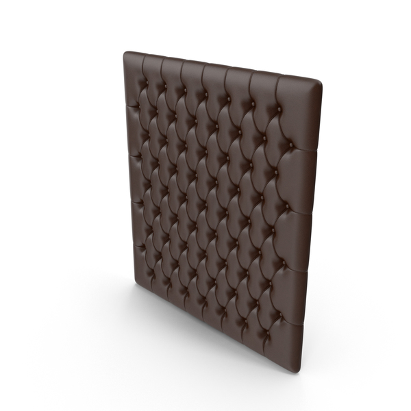 Wall: Tufted Leather Panel PNG & PSD Images