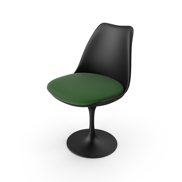 Tulip Chair Black PNG & PSD Images