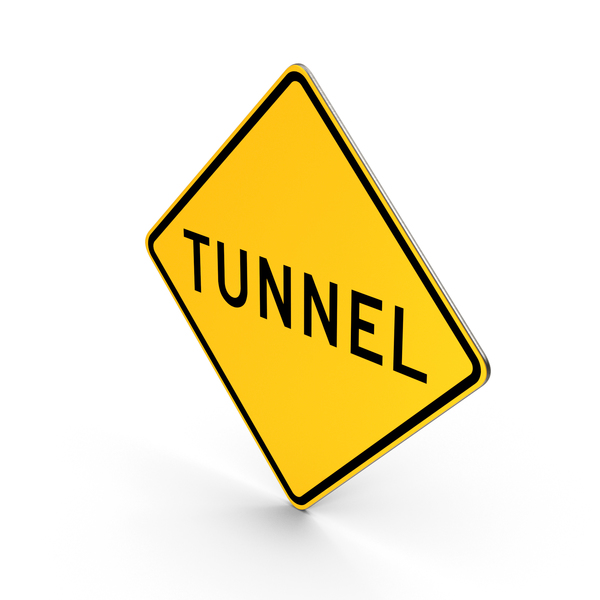Tunnel Road Sign PNG & PSD Images