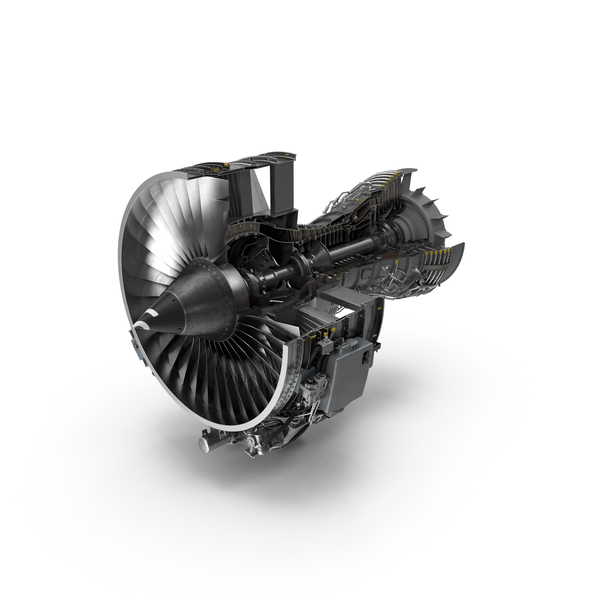 Airplane: Turbofan Aircraft Engine CFM56 PNG & PSD Images