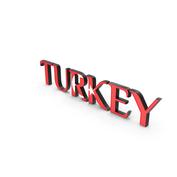 Language: Turkey Text with Flag PNG & PSD Images
