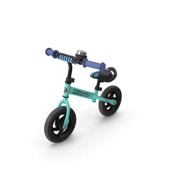 Bicycle: Turquoise Balance Bike PNG & PSD Images