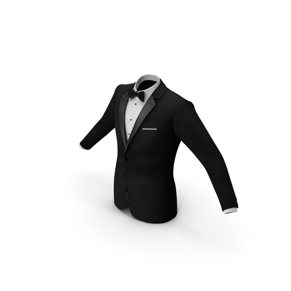 Tuxedo Black Jacket PNG & PSD Images