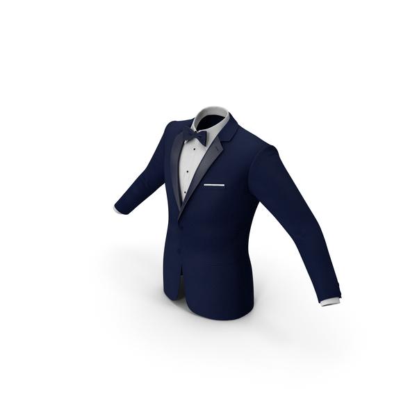 Tuxedo Blue Jacket PNG & PSD Images
