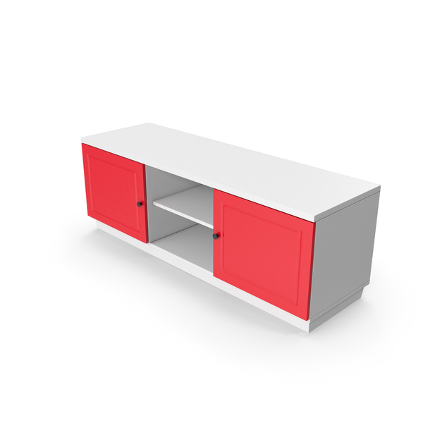 TV Stand Red White PNG & PSD Images