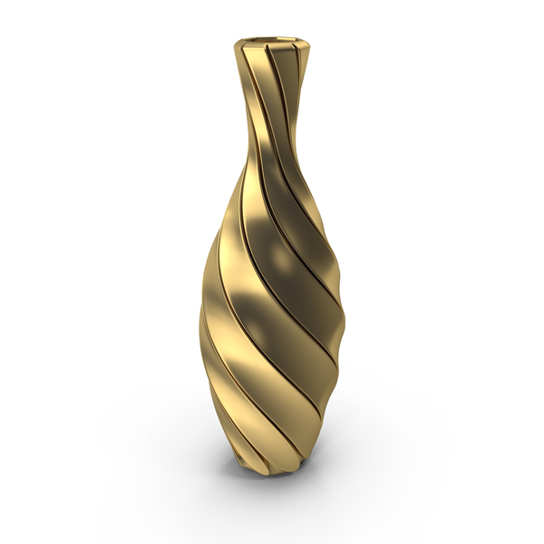 Twisted Gold Vase PNG & PSD Images