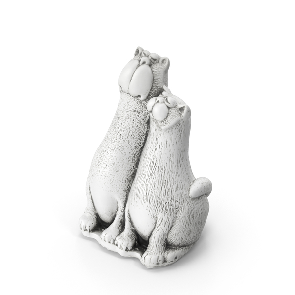 Two Cats Toy Statue PNG & PSD Images