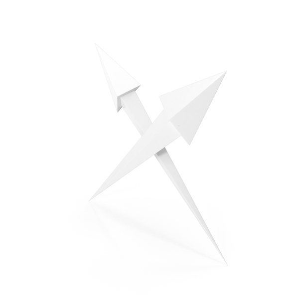 Two Cross Arrows White PNG & PSD Images