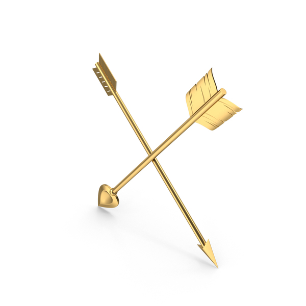 Two Cross Gold Arrows PNG & PSD Images