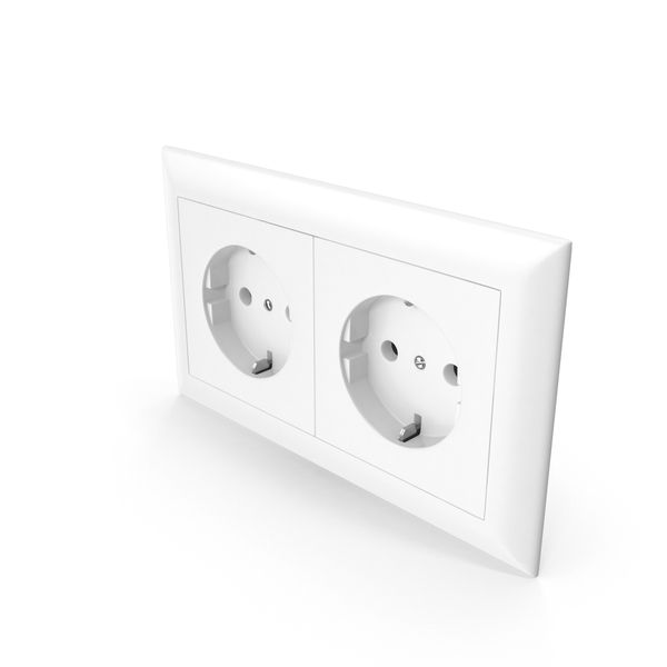 Two European Standard Wall Socket Outlet PNG & PSD Images