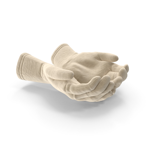 Two Gloves Suede Handful Pose PNG & PSD Images