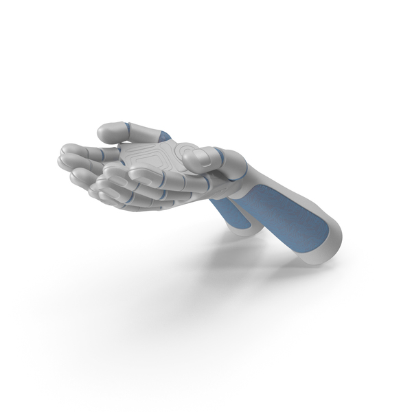 Hand: Two Robot Hands Handful Hold Pose PNG & PSD Images