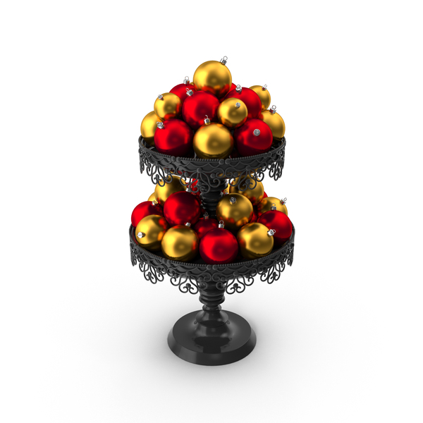 Two Tier Vase With Ornaments PNG & PSD Images