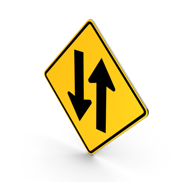 Two Way Traffic Sign PNG & PSD Images