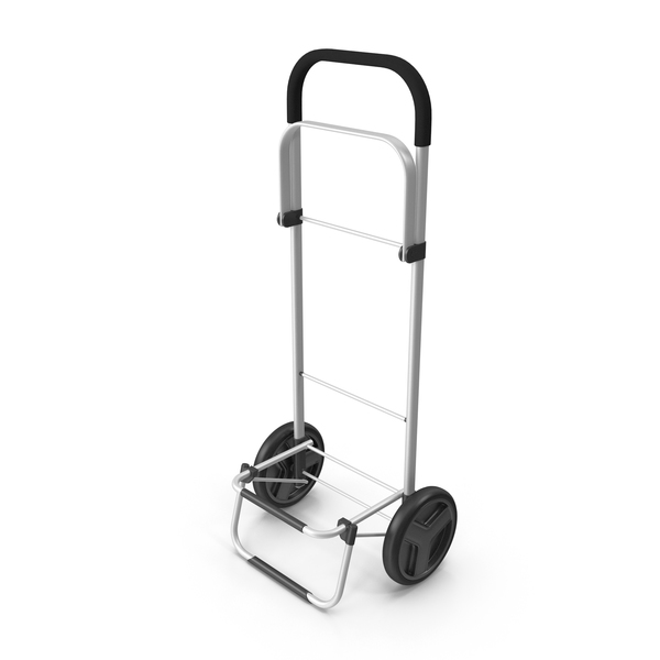 Hotel: Two Wheel Compact Luggage Cart PNG & PSD Images