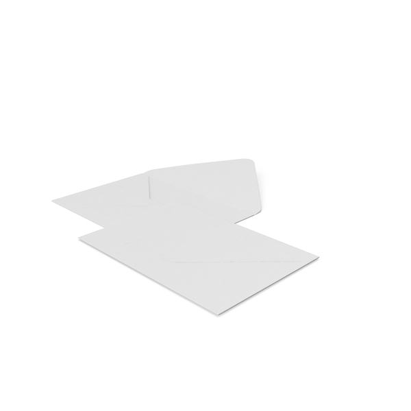 Two White Envelopes PNG & PSD Images