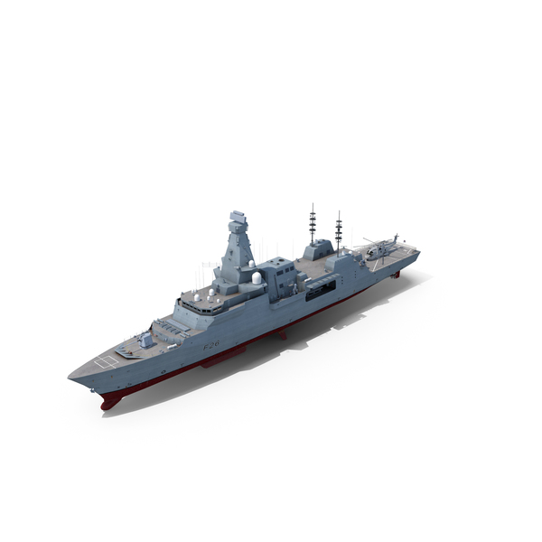 Type 26 Frigate With Merlin MK 2 Helicopter PNG & PSD Images
