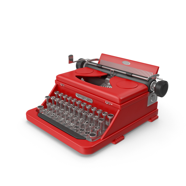 Typewriter (Red) PNG & PSD Images