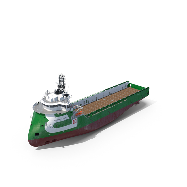 Ulstein PX105 Bourbon Front Platform Supply Vessel PNG & PSD Images