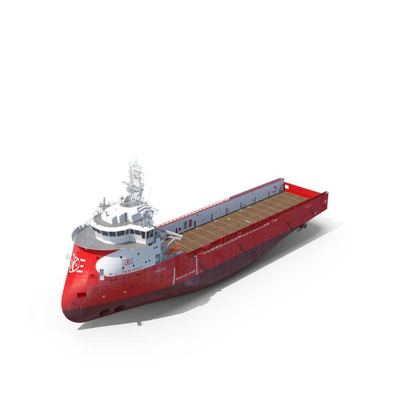 Ulstein PX105 Rem Hrist Platform Supply Vessel PNG & PSD Images