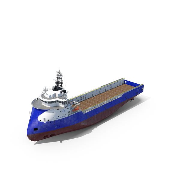 Ulstein PX105 Sea Spider Platform Supply Vessel PNG & PSD Images