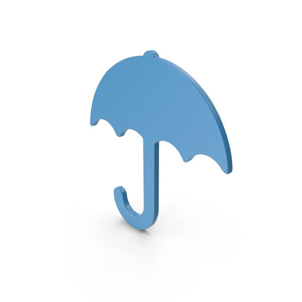 Symbols: Umbrella Blue Icon PNG & PSD Images