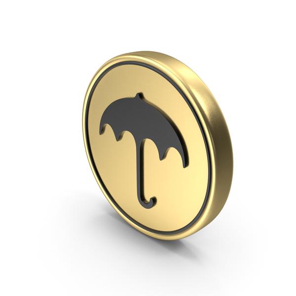 Umbrella Coin Logo Icon PNG & PSD Images