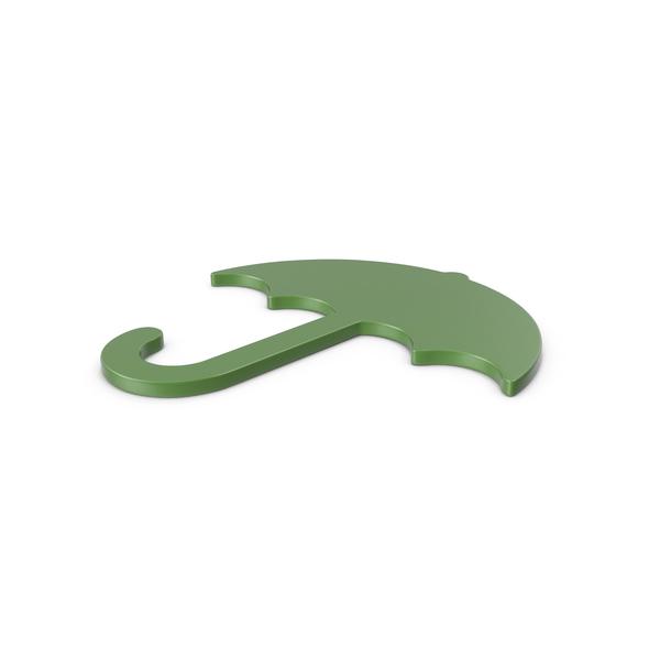 Symbols: Umbrella Green Icon PNG & PSD Images