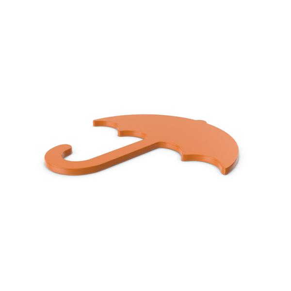 Symbols: Umbrella Orange Icon PNG & PSD Images