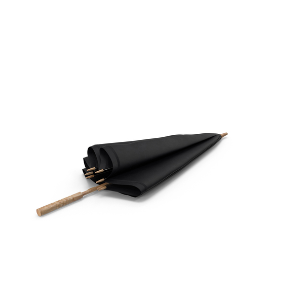 Umbrella with Wooden Handle PNG & PSD Images