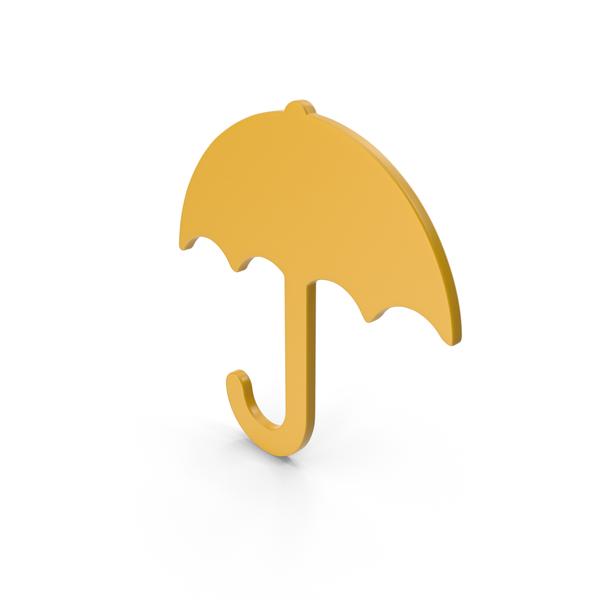 Symbols: Umbrella Yellow Icon PNG & PSD Images